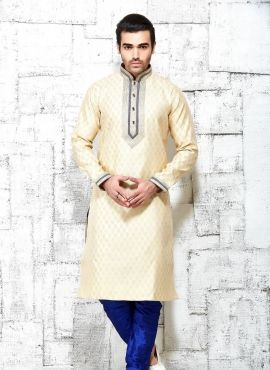 a3cb75d5ce Beige Indian Punjabi silk kurta pajama for Diwali | latest KURTA ...