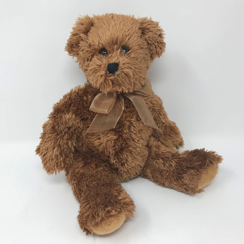 2006 Bear King Originals Plush Stuffed Teddy Bear 8 Brown Satin Ribbon Classic Bearkingoriginals Plush Stuffed Animals Bear Stuffed Animal Soft Toy Animals [ 1000 x 1000 Pixel ]