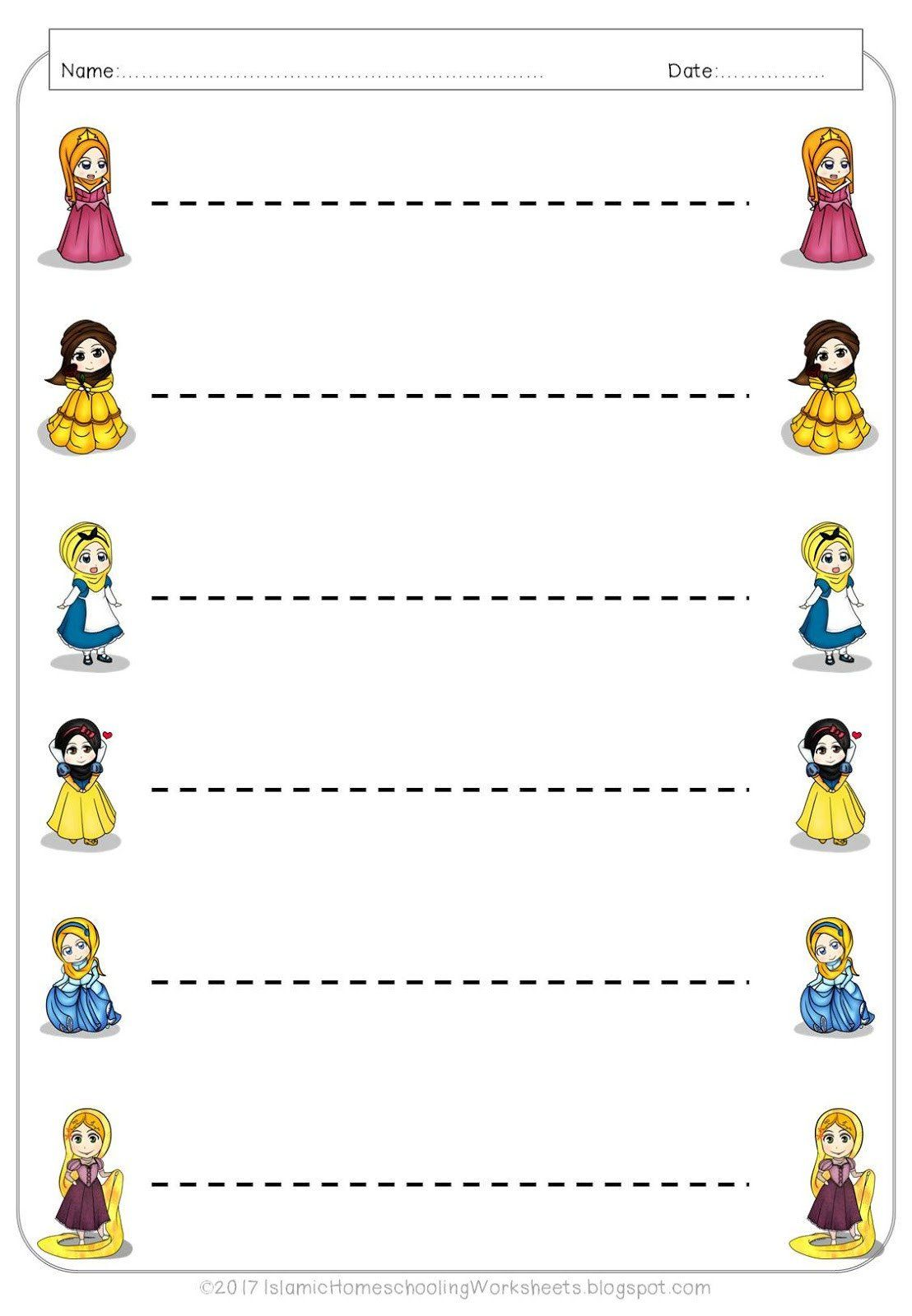 Princess Worksheets For Preschool Princess Preschool