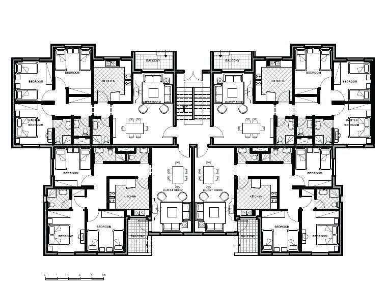 House Plans Apartment Buying Unit Building About Remodel Design With 4 Small Ap Building Design Plan Small Apartment Building Plans Apartment Architecture