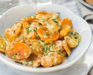 Recette de Mijoté de carottes et d'endives à la crème légère