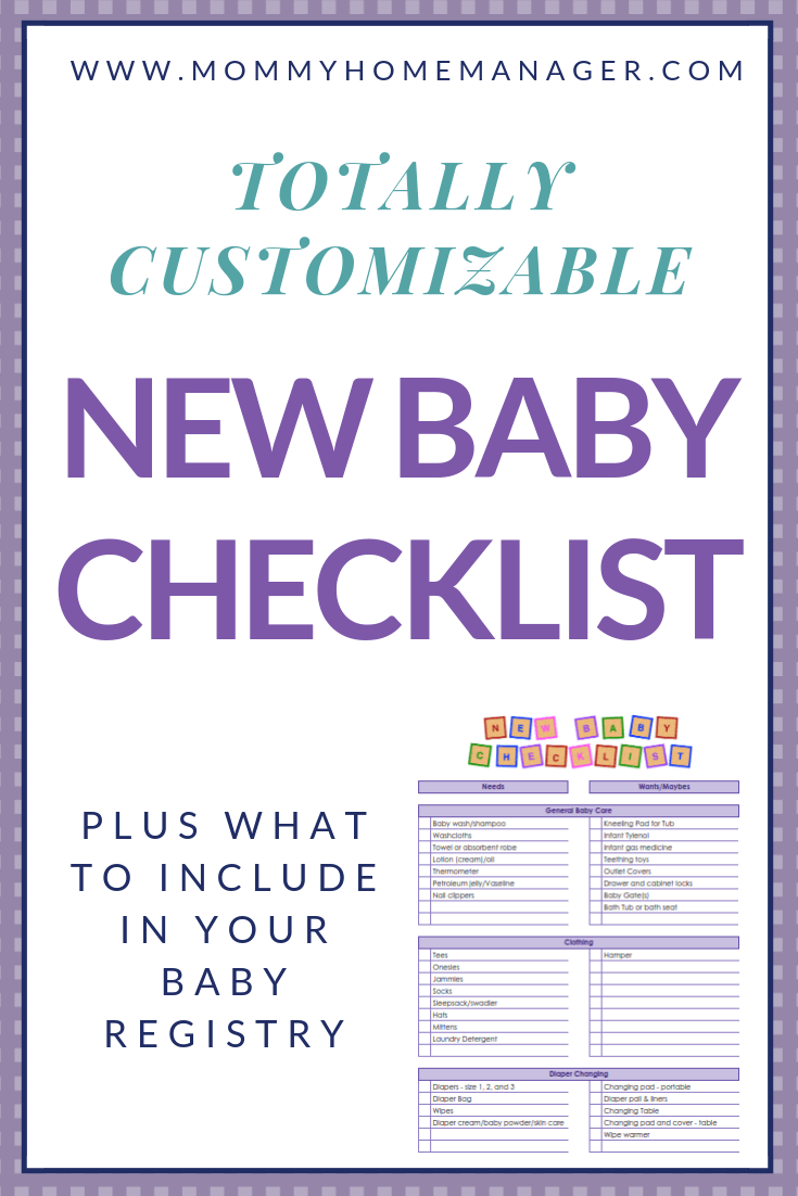 0f61acb666414 There are so many items on the market for new parents! Check out this  customizable new baby checklist to keep track of everything you need for  baby.