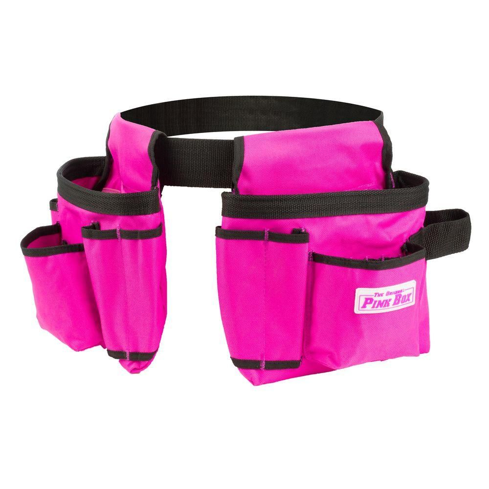 The Original Pink Box, 2-Pouch Tool Belt in Pink, PB2BELT at The Home Depot - Mobile