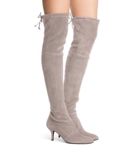 67d82474400 New Stuart Weitzman TIEMODEL 6.5 Suede Over The Knee Boots Grey 6.5 MSPR  798  fashion  clothing  shoes  accessories  womensshoes  boots (ebay link)