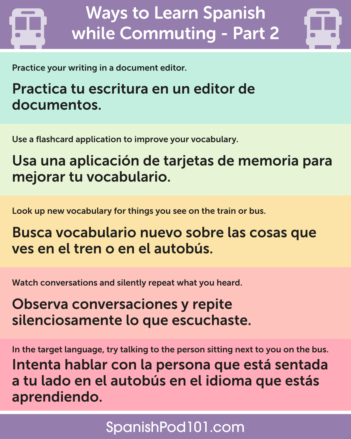 Ways To Learn Spanish While Commuting Ps Learn Spanish