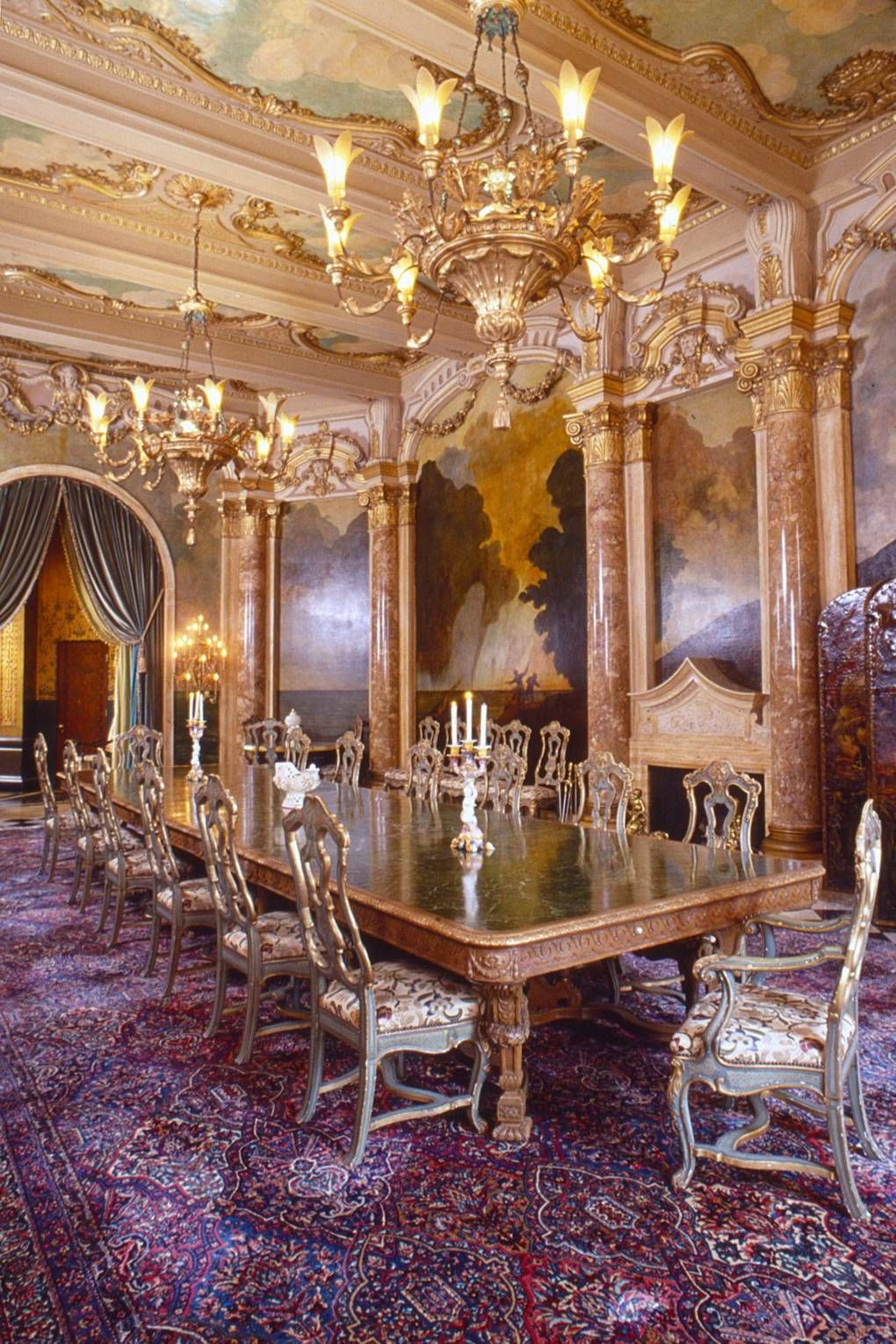 Image result for mar a lago dining room Trump home