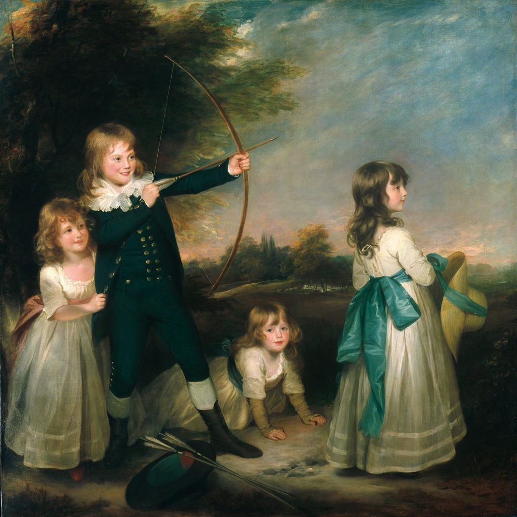 beechey - The Oddie Children. 1789. Oil on canvas. 182.9 x 182.6 cm (72 x 71 7-8 in.). North Carolina Museum of Art, Raleigh NC @@@