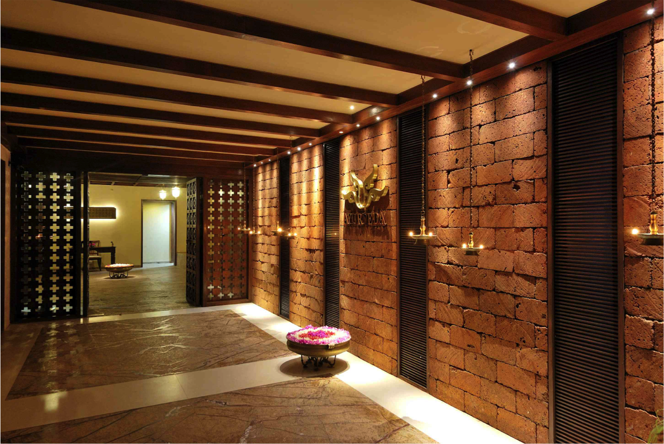The Entrance To The Ayur Spa This Wall Feature Is Made