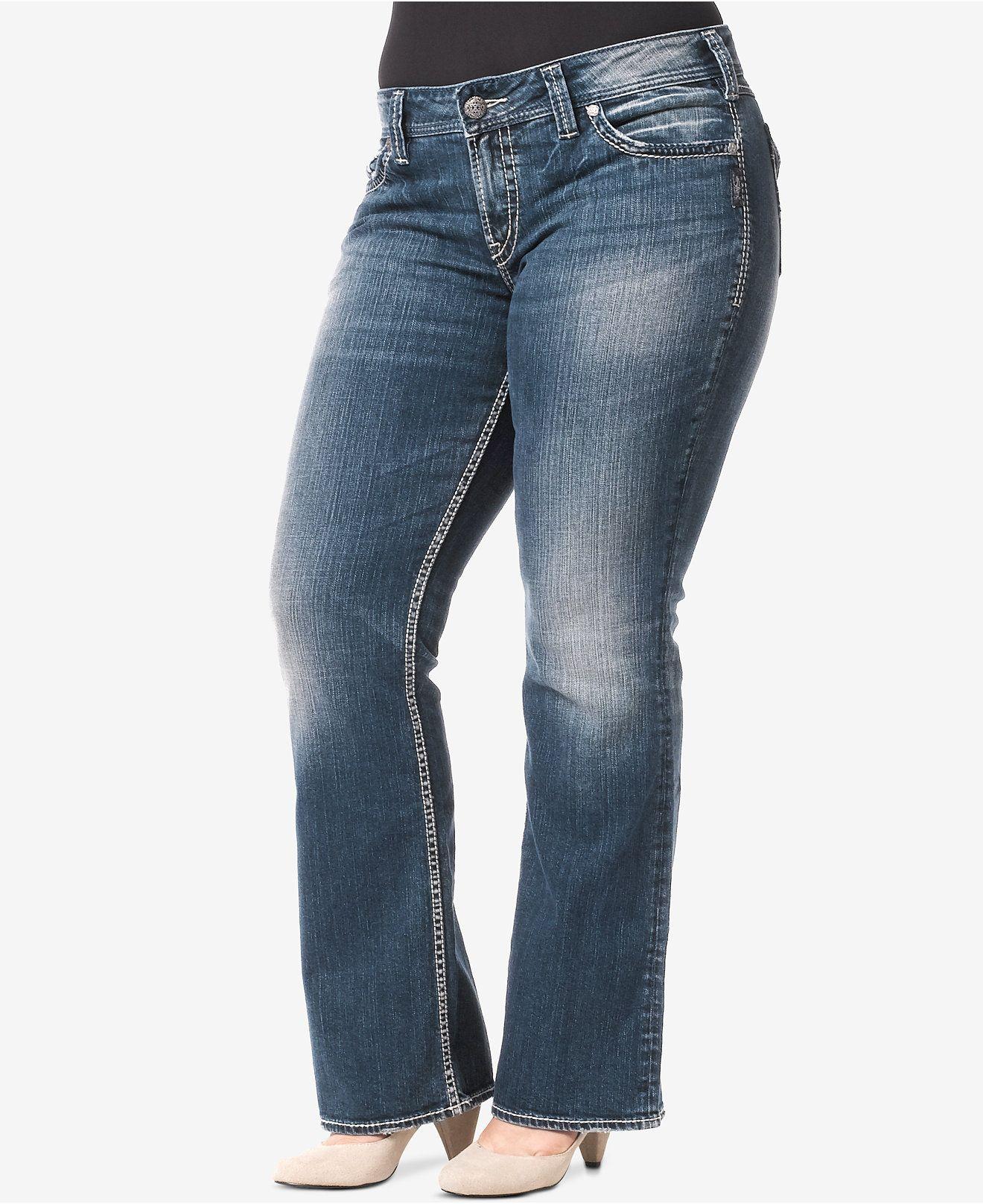 3f3556a92f428 Silver Jeans Plus Size Suki Indigo Wash Bootcut Jeans - Trendy Plus Sizes - Plus  Sizes - Macy s