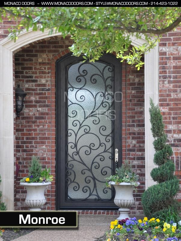 Monaco Doors Name Monroe Finish Custom Glass Aquatex Size 3 X 9