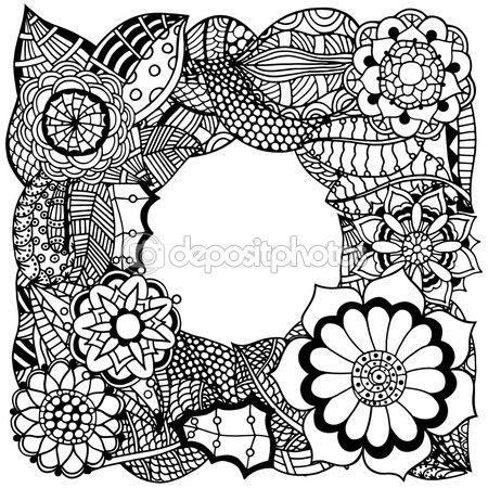 Ethnic floral zentangle — Vector de stock | H Flores y frutas 06 ...