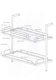 Dimensions Kids Bunks Bunkbeds Bunk Bed For Fold Away Beds