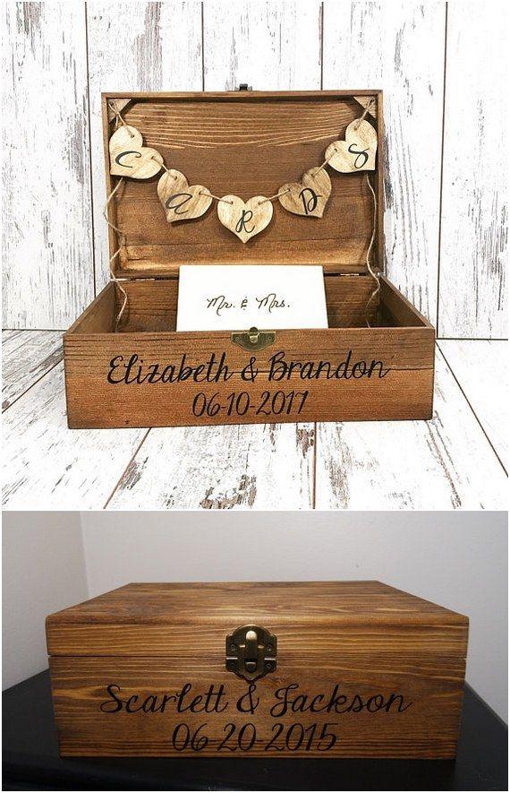 22 Creative Wedding Card Box Ideas Card Box Wedding Rustic Card