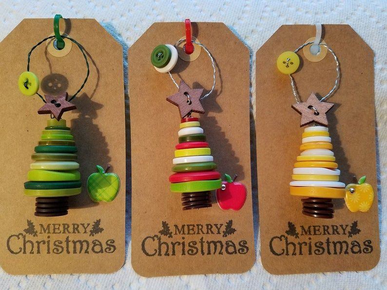 TEACHER Ornamente / ID Abzeichen Clips #cartedenoelenfant
