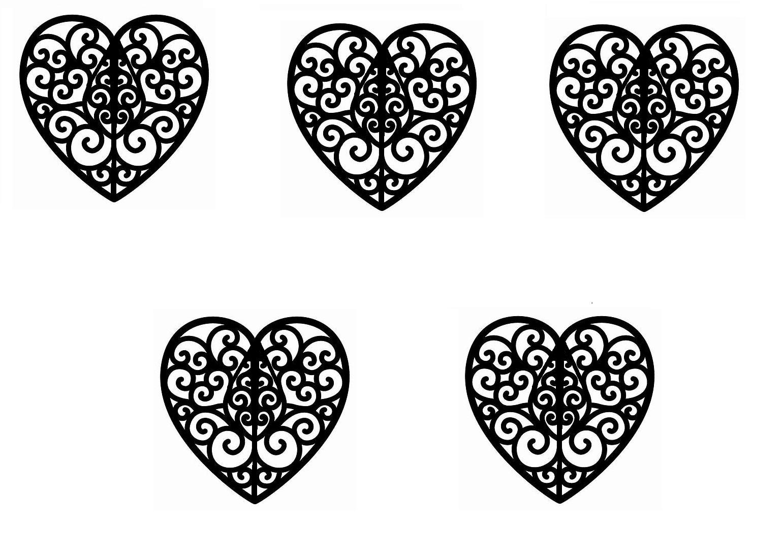 Decorating Supplies Cookie Frozen Cake Ana Heart Template Flower