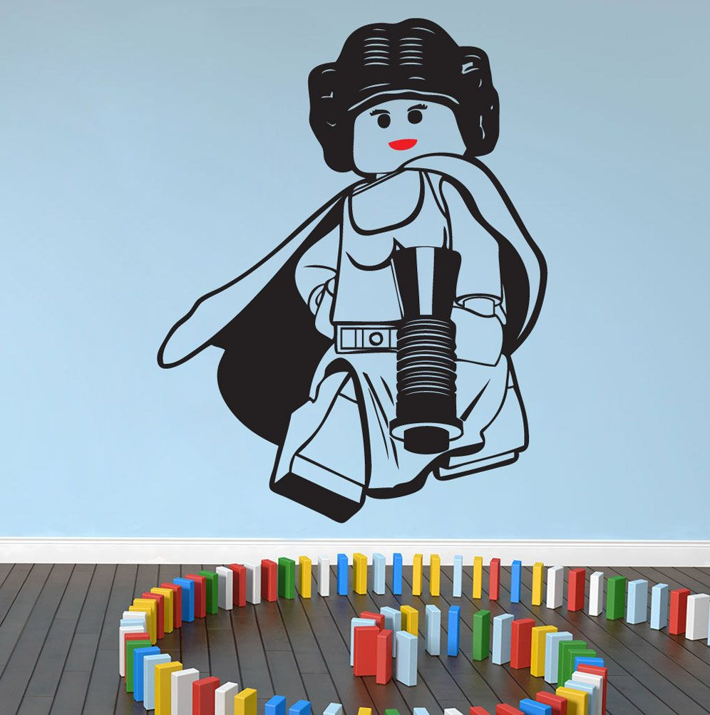 LEGO STAR WARS, Princess Leia Wall Art, Wall Stickers,decal By NSVINYLS On Part 46