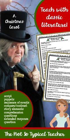 Christmas Carol Reader's Theater Script & Activities RL3.1 RL3.2 RL4.1 RL5.1   Readers theater ...