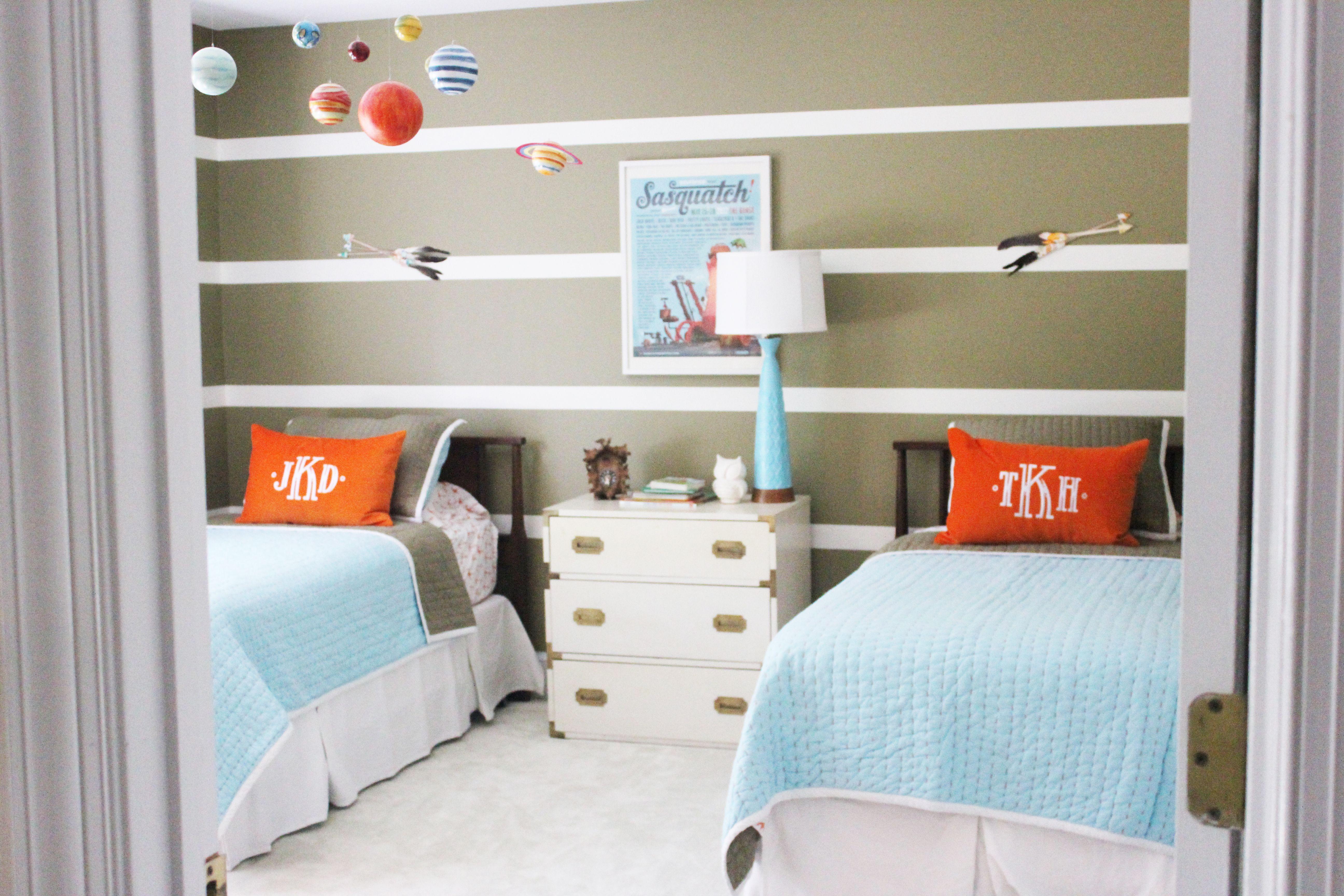 Boys Bedroom Color Shared Boys Bedroom Marya Karlton Campaign Stripes Serena And