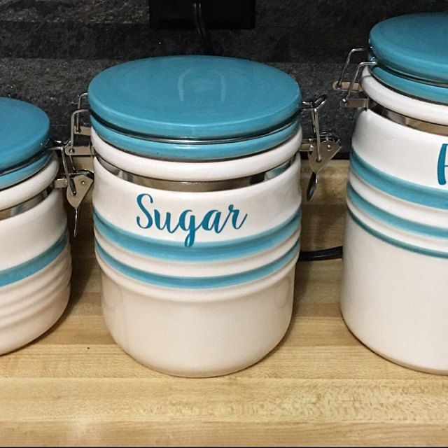 Custom Kitchen Canister Decals