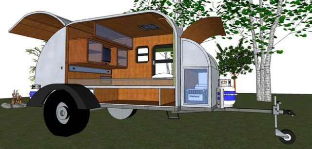 Teardrop Camper Plans The Crowswing Offroad Teardrop Trailer