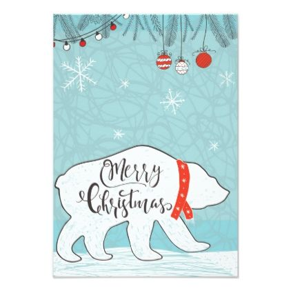 Merry Christmas greeting card - holiday card diy personalize design - greeting card template