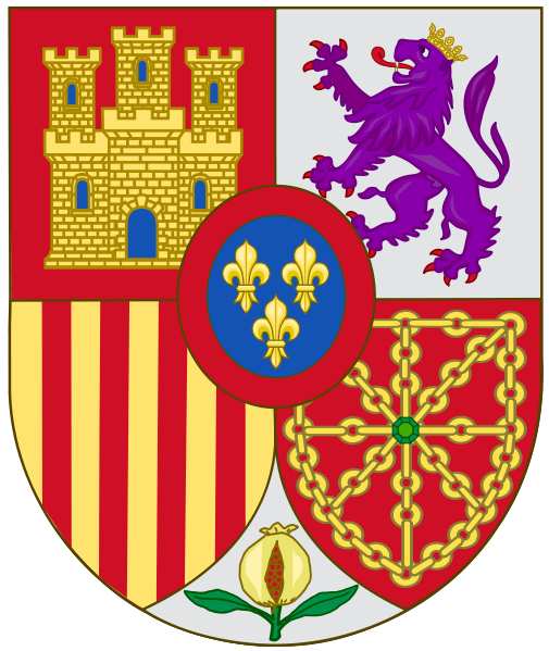File Arms Of Spain Svg Wikipedia The Free Encyclopedia Coat Of Arms Spain Heraldry
