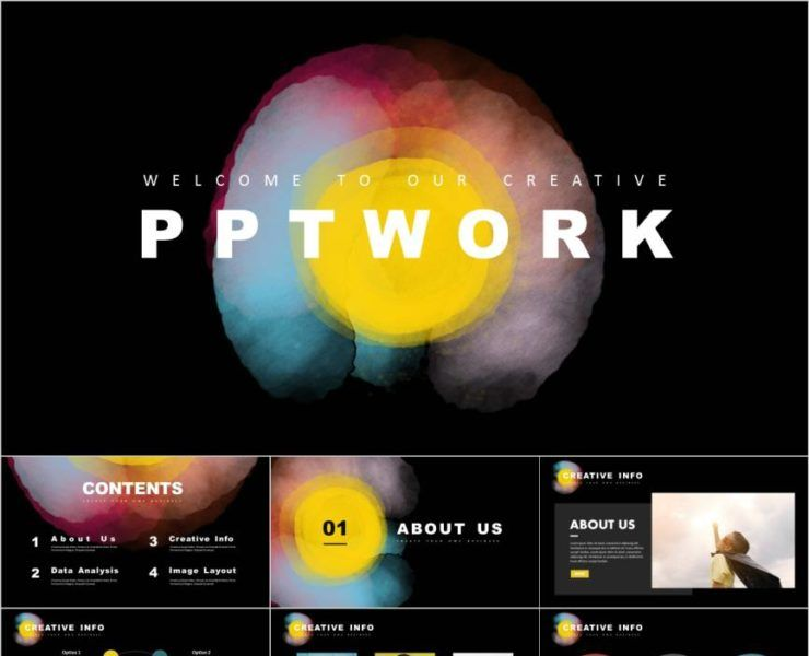 Yellow Black Business Report Design Powerpoint Template Powerpoint