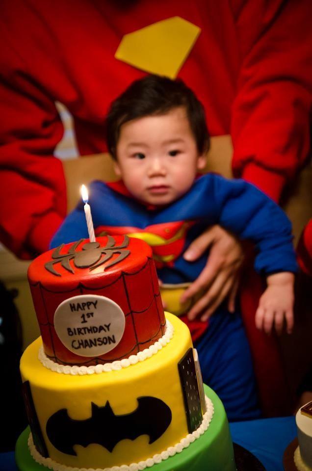 superhero 1st birthday theme