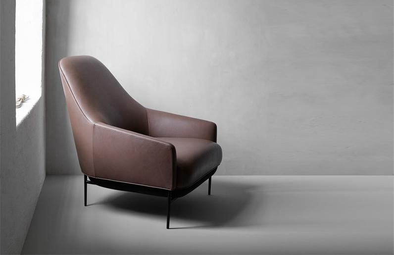 chill is the name of this minimalist armchair which design studio north has created for wendelbo interiors