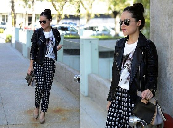 Vateno Jacket, Forever 21 Top, Forever 21 Trousers, Marc By Marc Jacobs Clutch, Zara Heels