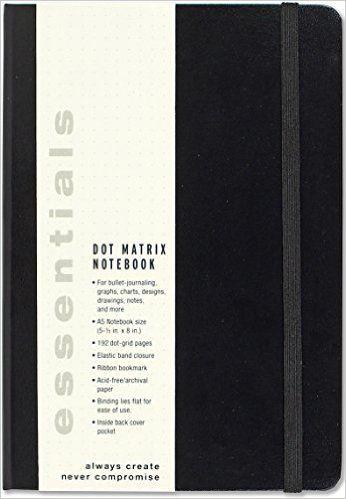 Essentials Dot Matrix Notebook, A5 size (Bullet Journal): Peter Pauper Press: 9781441323712: Amazon.com: Books