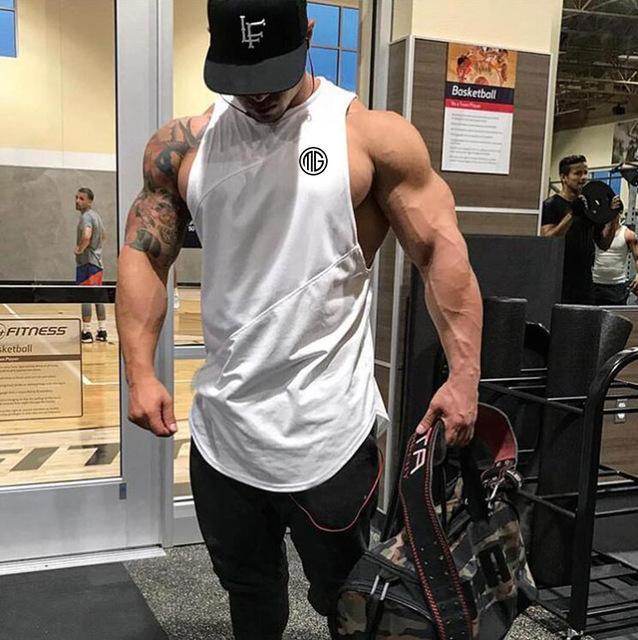Muscleguys Fitness Tank Top Sleeveless Shirt 7 Colors Gym Outfit Men Body Building Men Workout Tank Tops