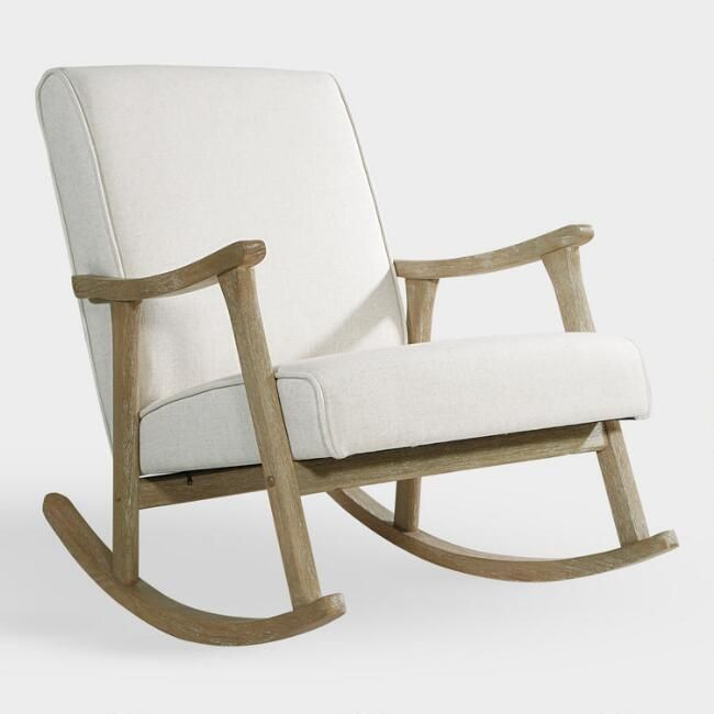Ivory Joanna Rocking Chair V1 Dreamy Nursery Decor