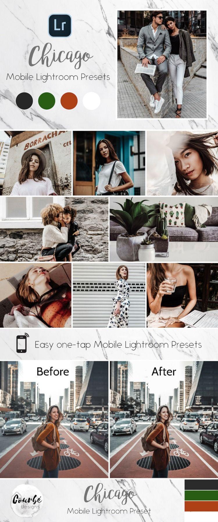 Mobile Lightroom Presets *CHICAGO* Instagram Blogger Preset, Travel