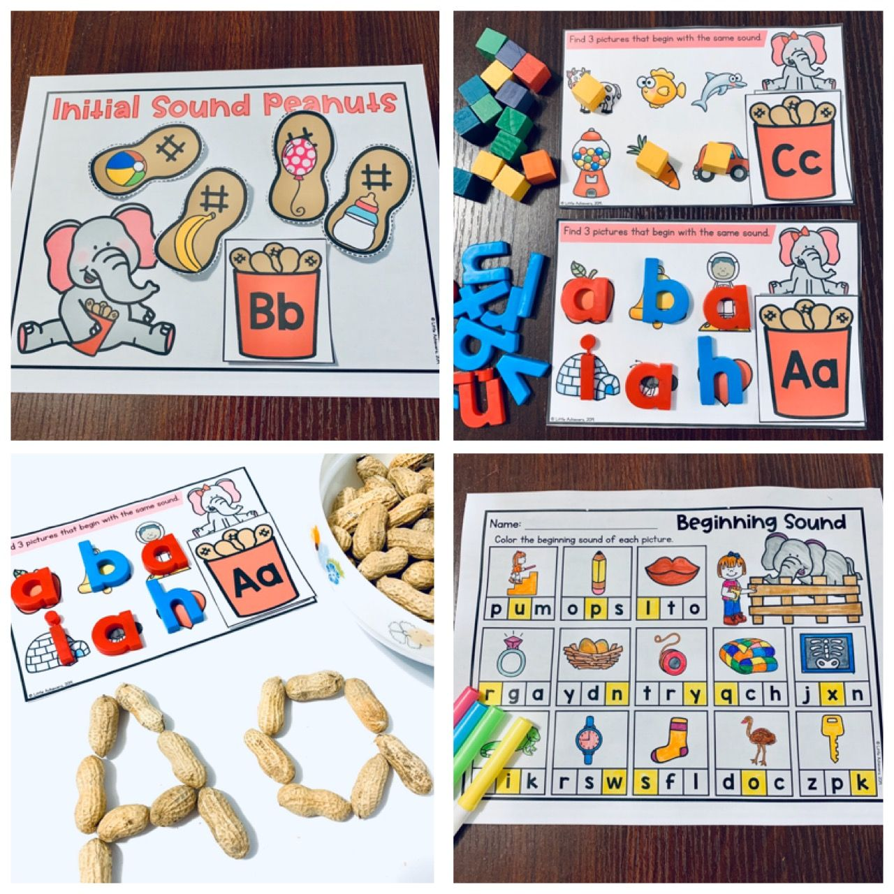 Beginning Sounds Matching Activities Letter Sound