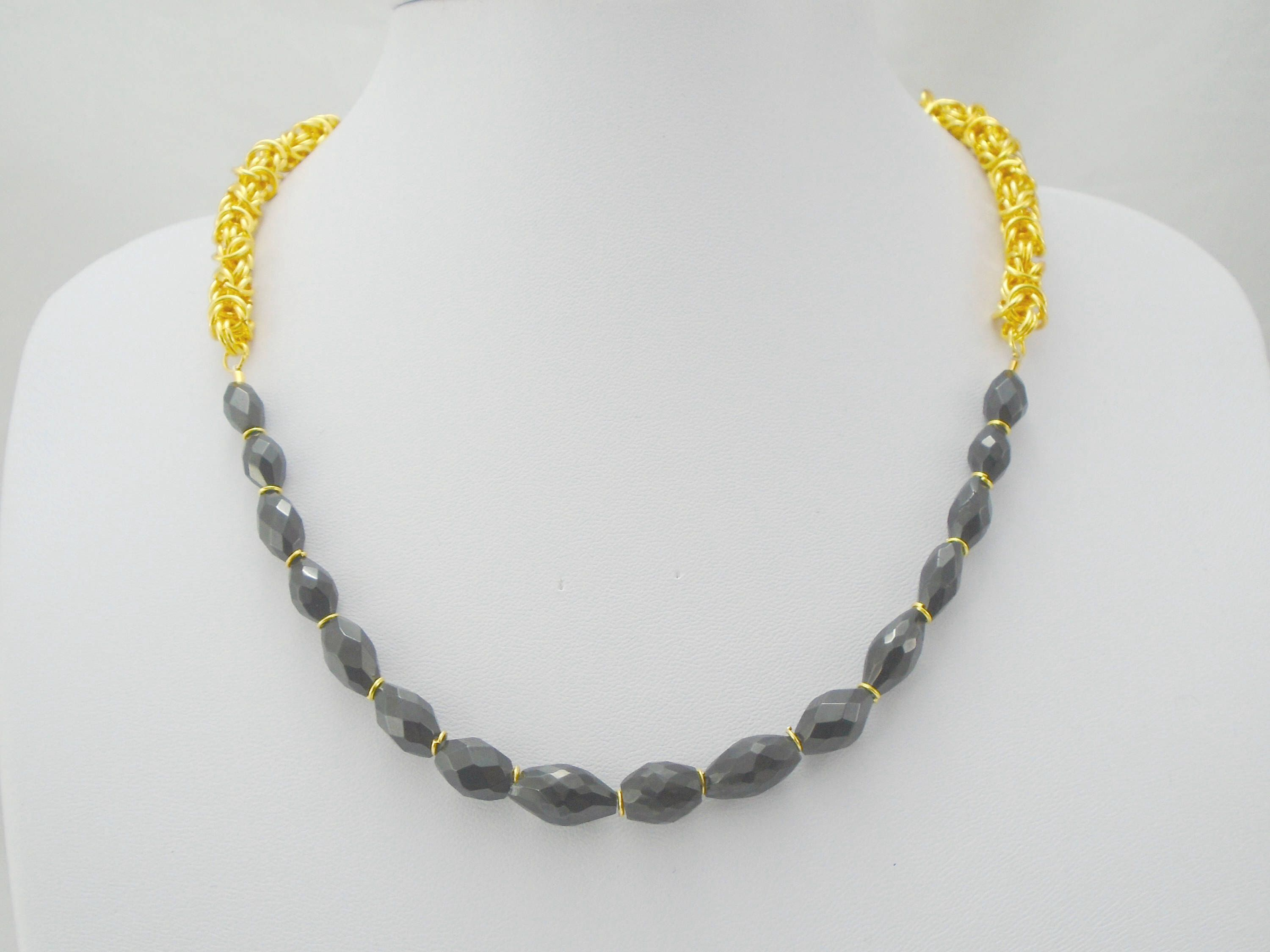 black lena necklace spinel faceted products ls peridot strand multi skadegard