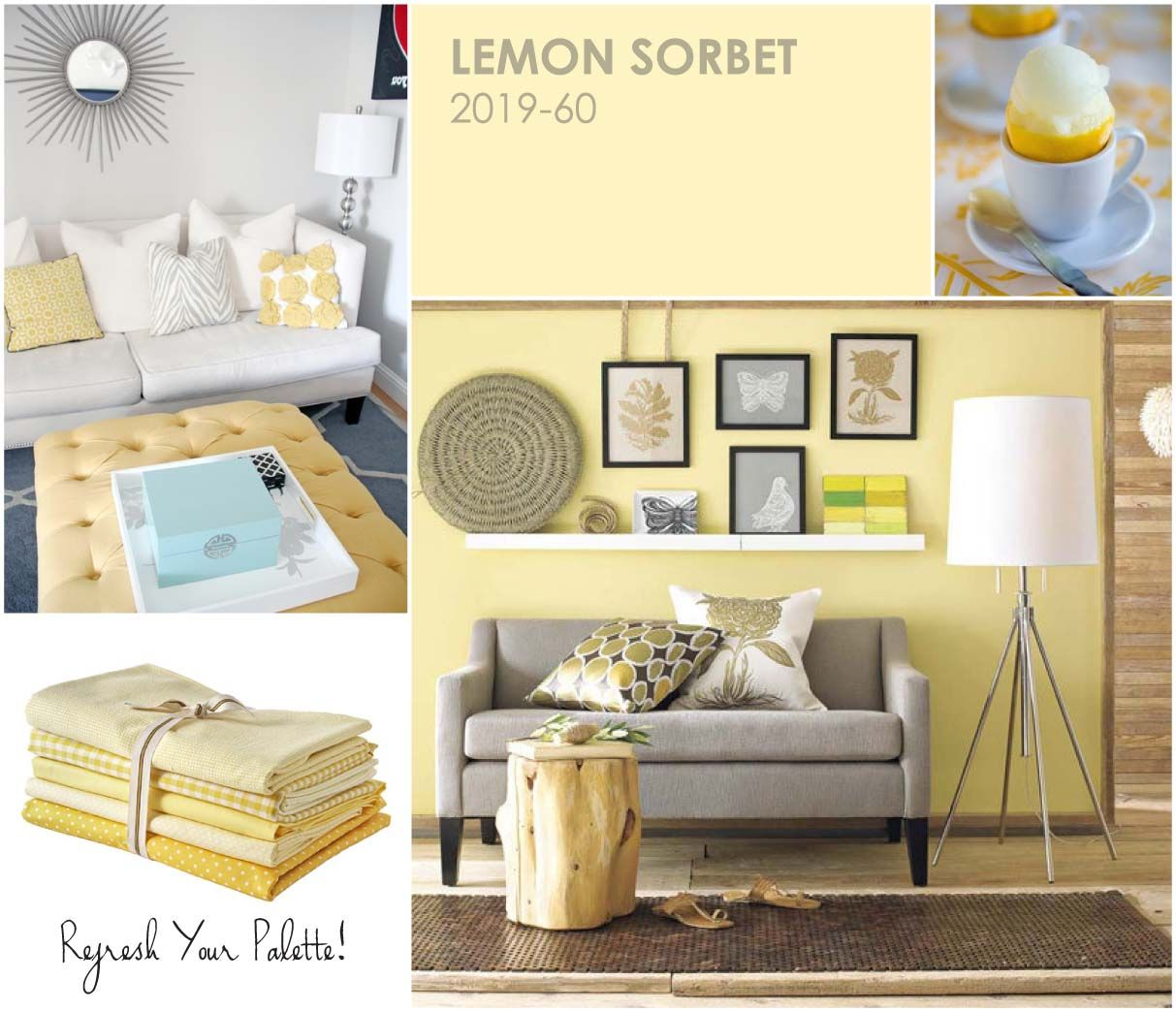 Lemon Sorbet - Refresh your palette, refresh your home.
