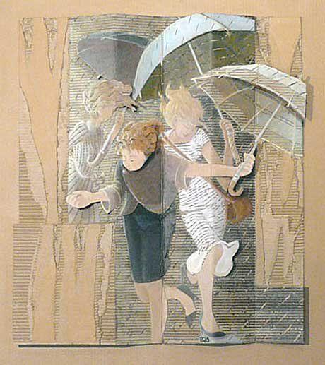Françoise Amadieu Peinture Sur Carton Ondulé Le Carton Est Un