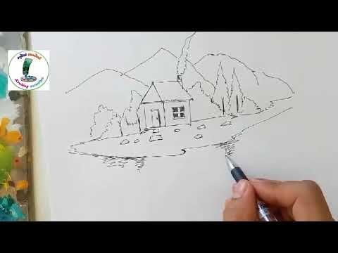 คร ส งห สอนศ ลป L สอนวาดร ปบ านการ ต นง ายๆ L ท วท ศน L Landscape Youtube ท วท ศน ศ ลปะ