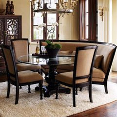 Traditional Dining Chairs And Curved Bencheshorchow Extraordinary Dining Room Table Bench Seat Design Inspiration