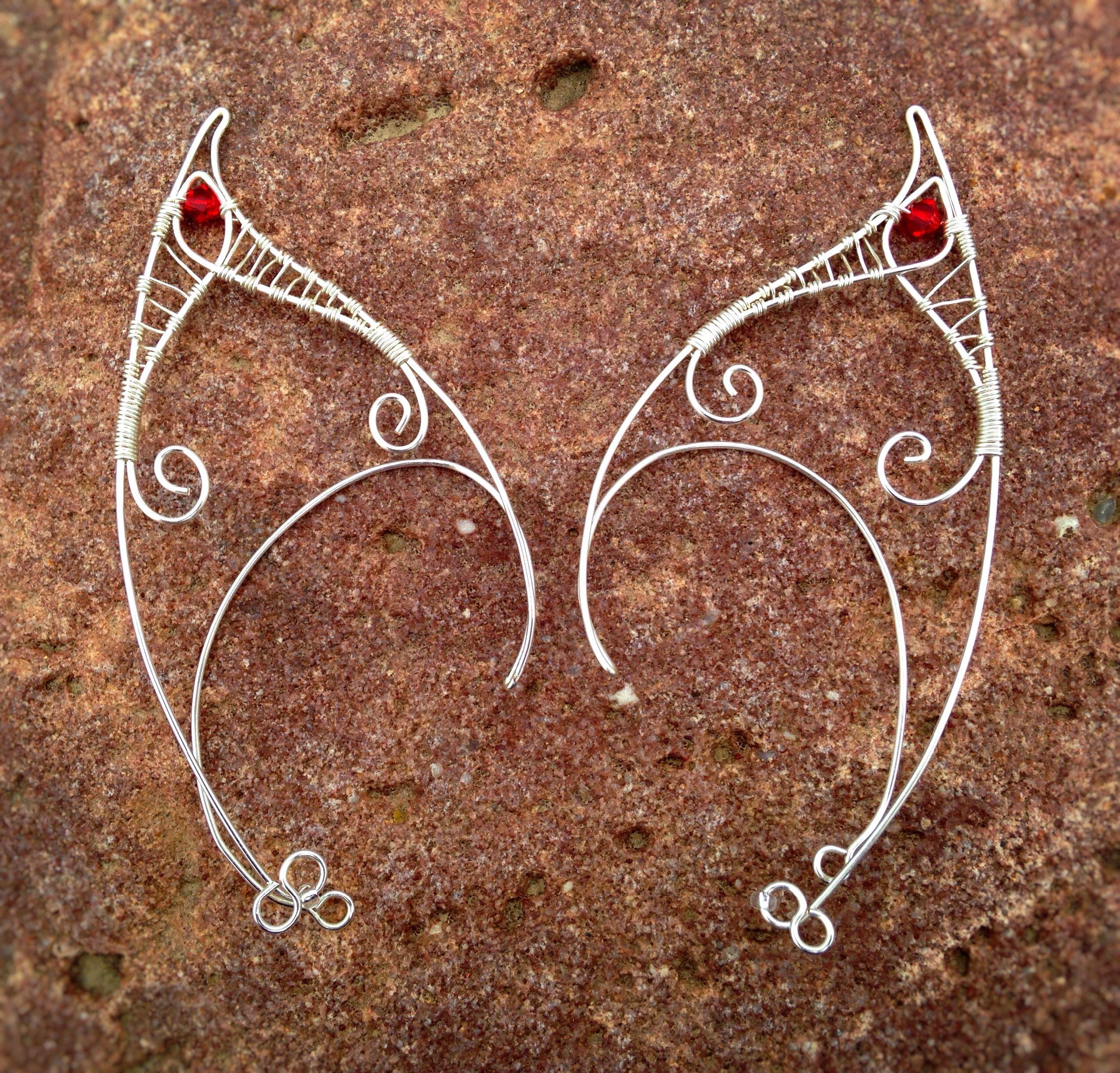 Elf Ear Cuff; Materials: 20 gauge silver plated copper wire; 26 ...
