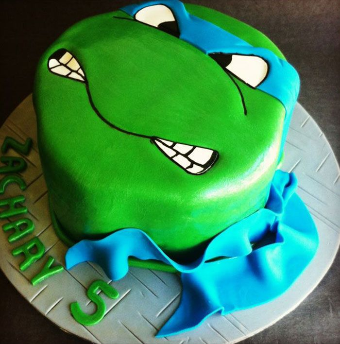 Image of: Ninja Turtles birthday cake ideas (22)