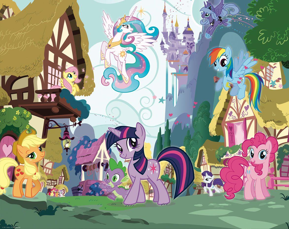 My little pony dw 40489 my little pony 2 fototapete wandbild fototapete fotow nde - My little jardin ...