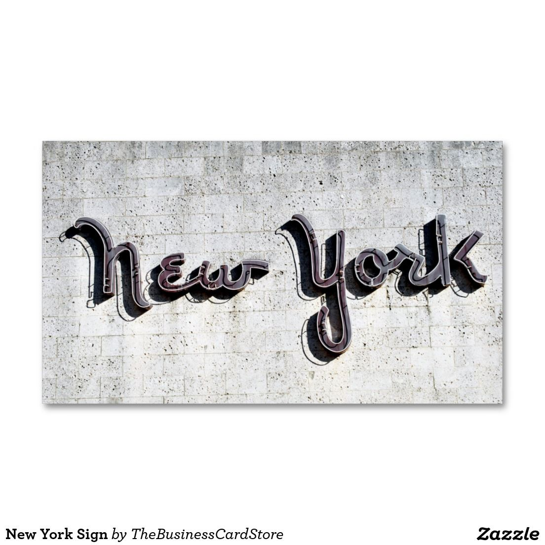 New york sign standard business card american business cards from new york sign standard business card reheart Choice Image