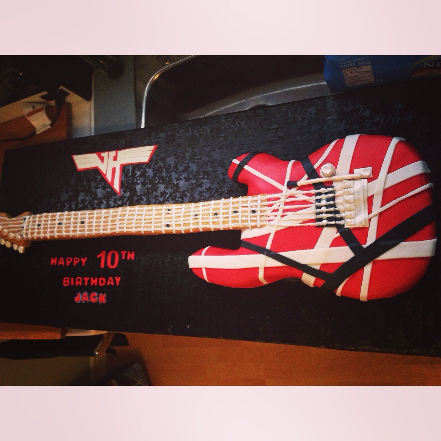 Van Halen Cake Happy 10th Birthday Party Themes 10th Birthday