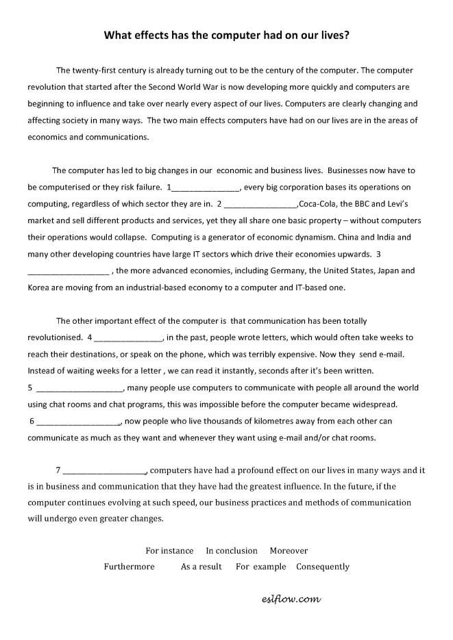 Cause-efffect-essay-transitions-worksheet | teaching ideas ...