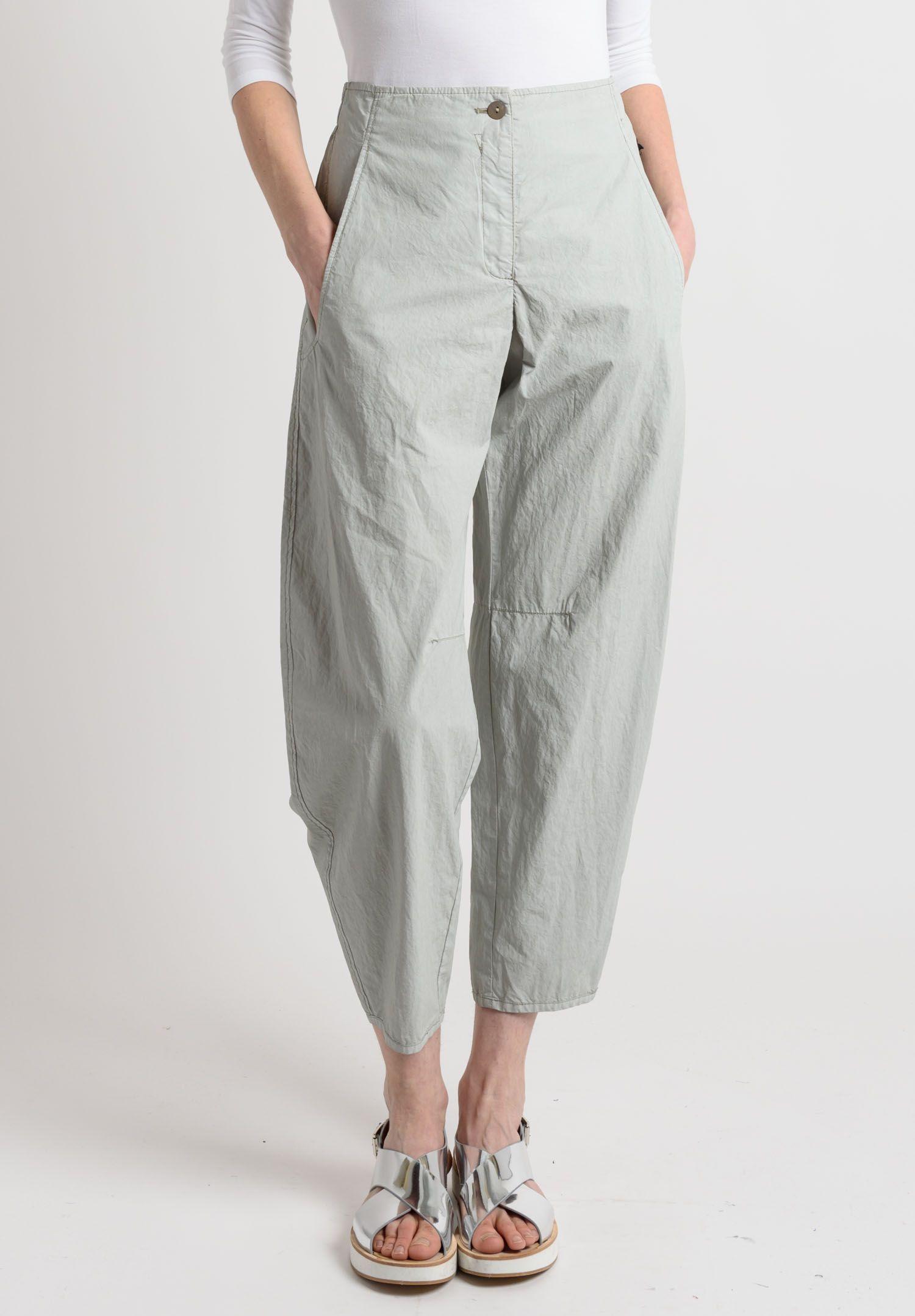 Oska - Cotton Wide Ankle Pants in Beige