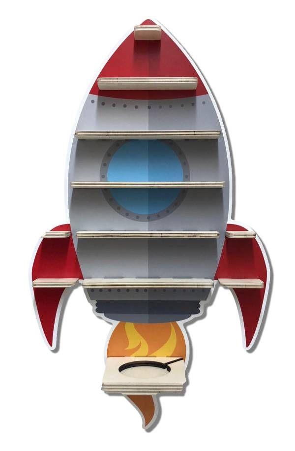 Raketen Regal für Musikbox