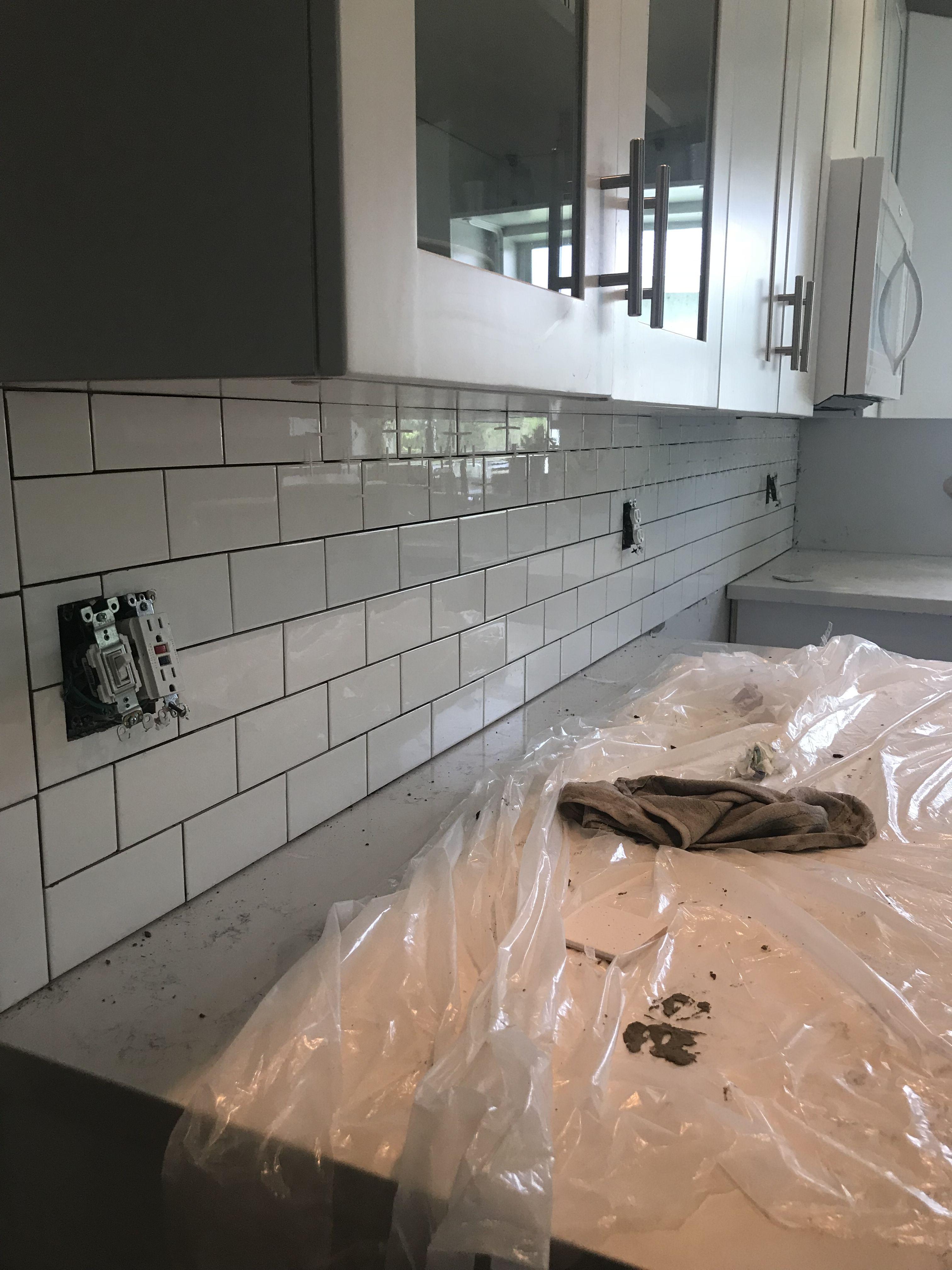 Subway tile kitchen backsplash spacers used kitchen in