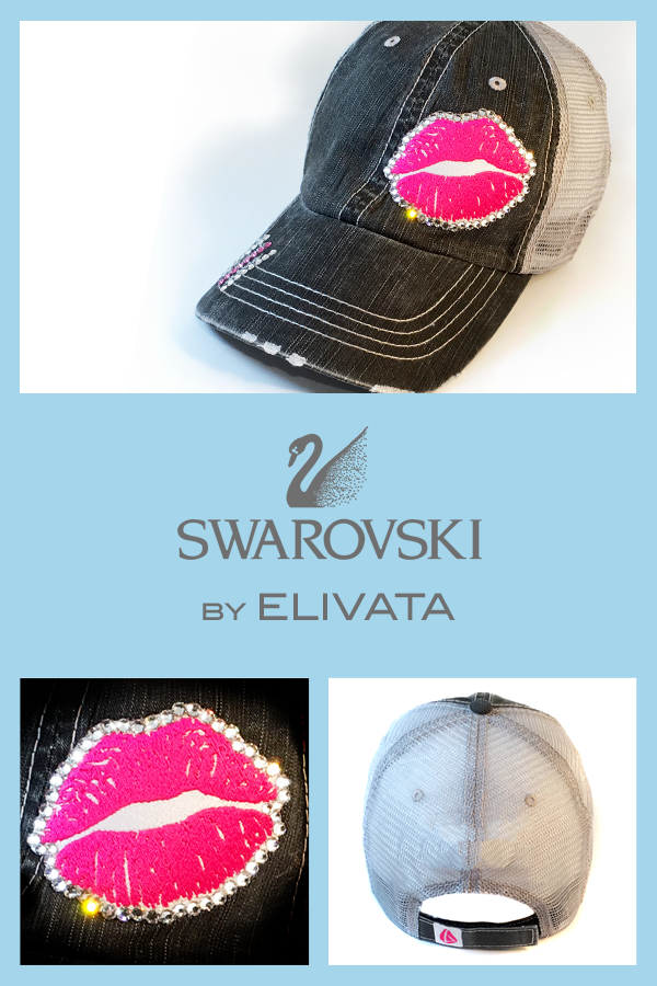 0a2433874ffe3 ... promo code 11382 efaa4 Elivatas pink lips distressed trucker hat  coordinates with any of your casual ...